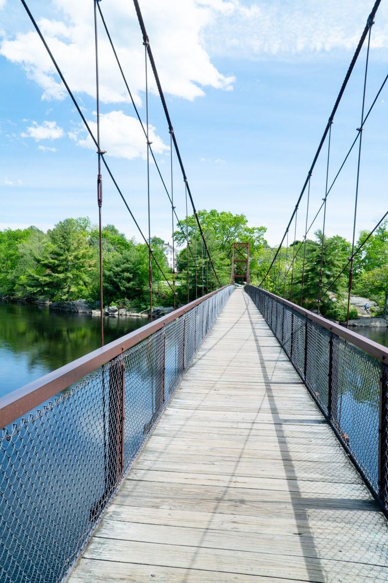 Androscoggin swinging pedestrian bridge