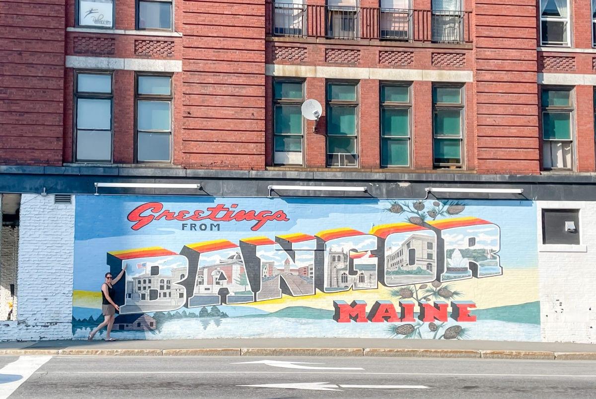 Greetings from Bangor mural