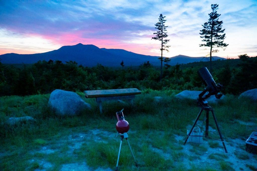 telescopes in Katahdin Woods & Waters