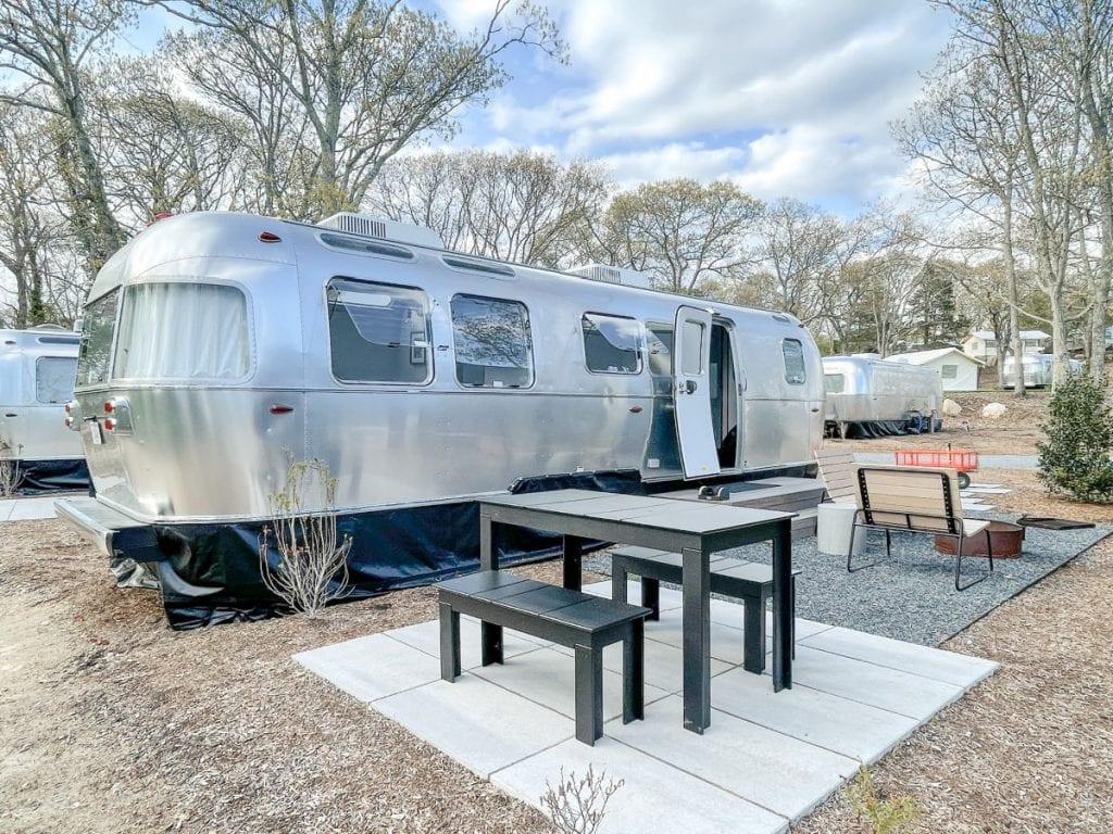 Airstream trail and picnic area at AutoCamp Cape Cod