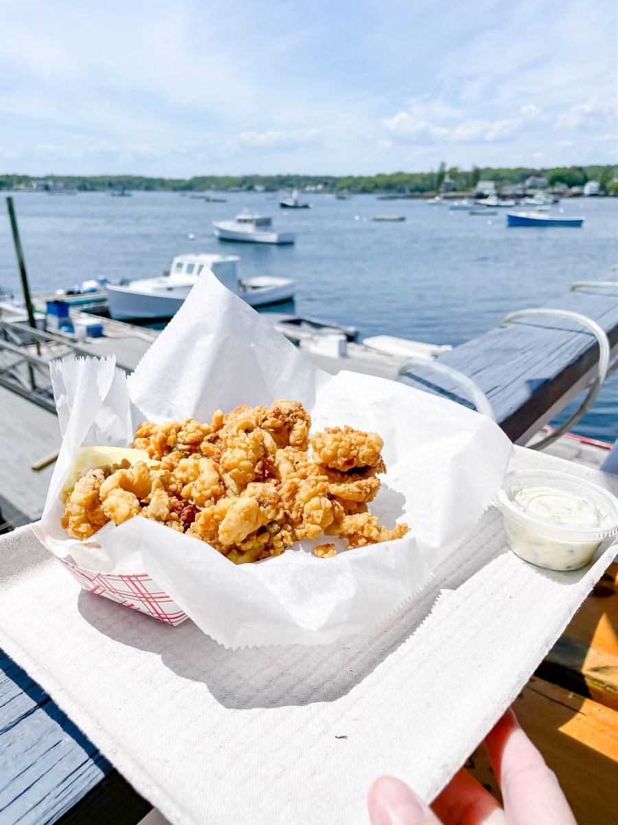 Fried clams from Boothbay Lobster Wharf