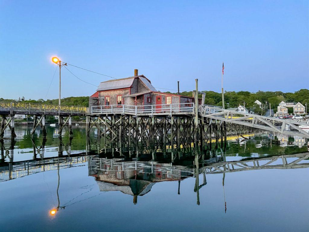 Pedestrian bridge in Boothbay Harbor
