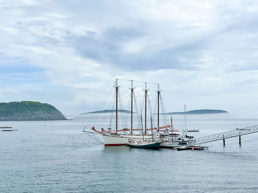 Schooner in Bar Harbor