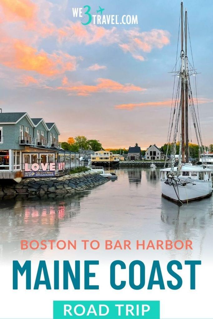 Boston to Bar Harbor Maine Coast road trip