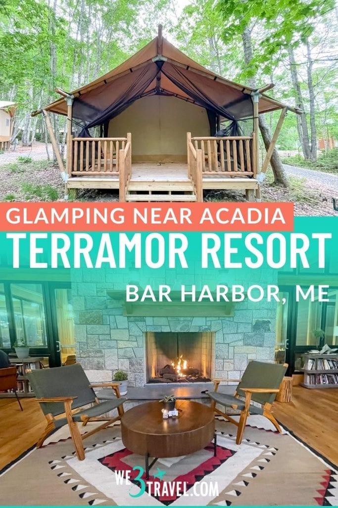 Glamping near Acadia Terramor Resort in Bar Harbor Maine