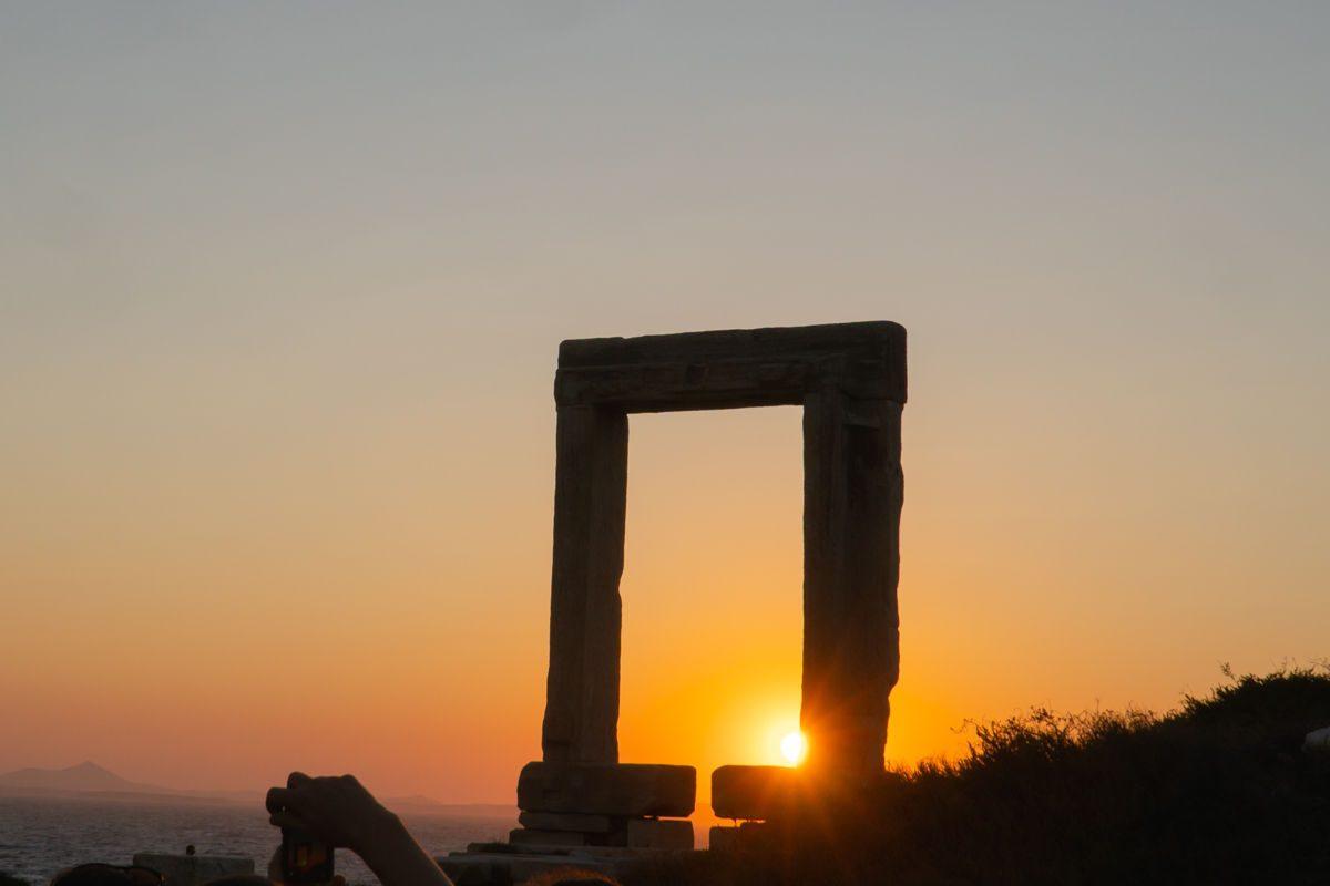 Apollo temple at sunset