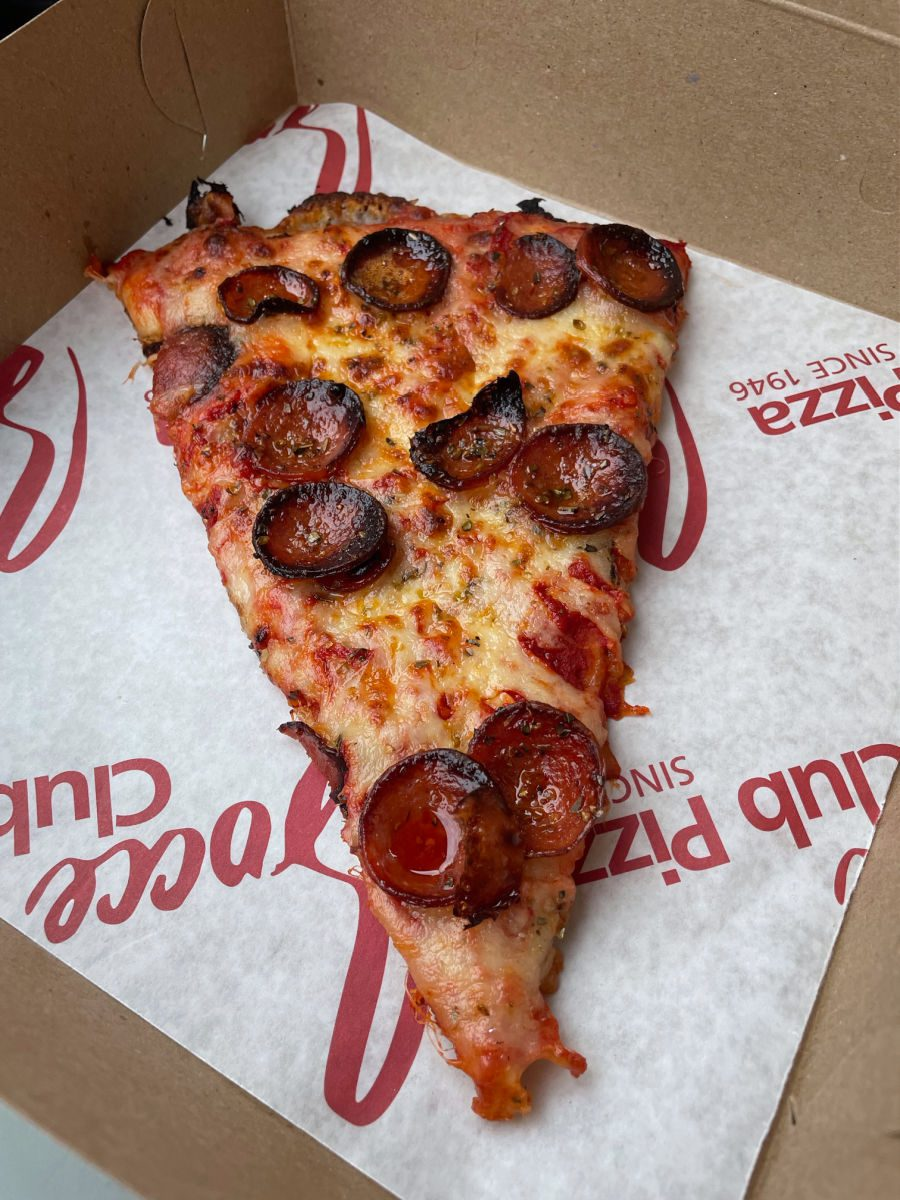 Buffalo-style pizza from Bocce Club