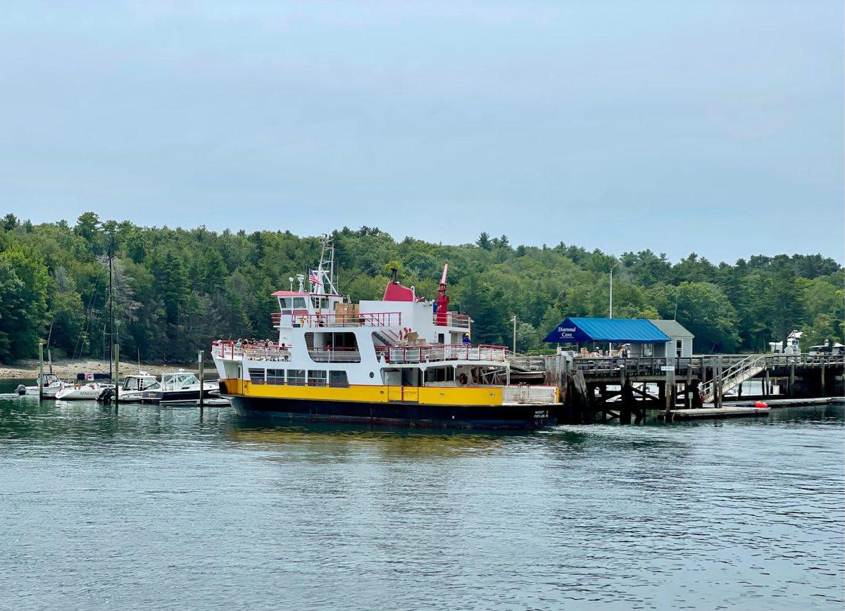 Casco Bay ferry at the Diamond Cove dock