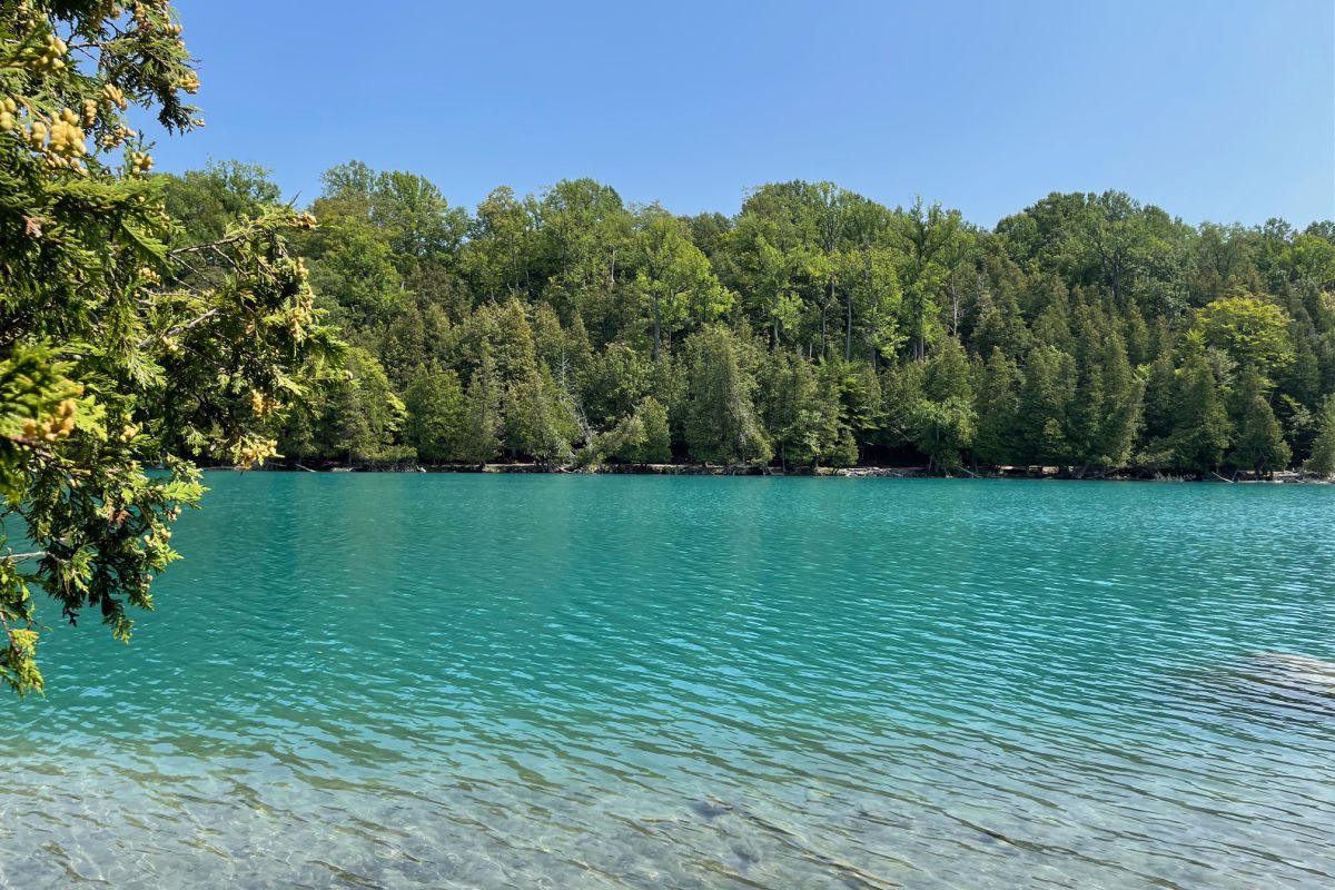 Glacial lake at Green Lakes State Park in Fayetteville, NY