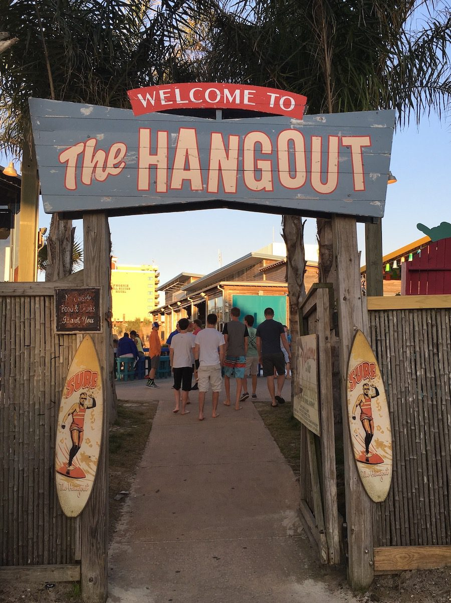 Welcome to the Hangout Gulf Shores entrance gate with sign