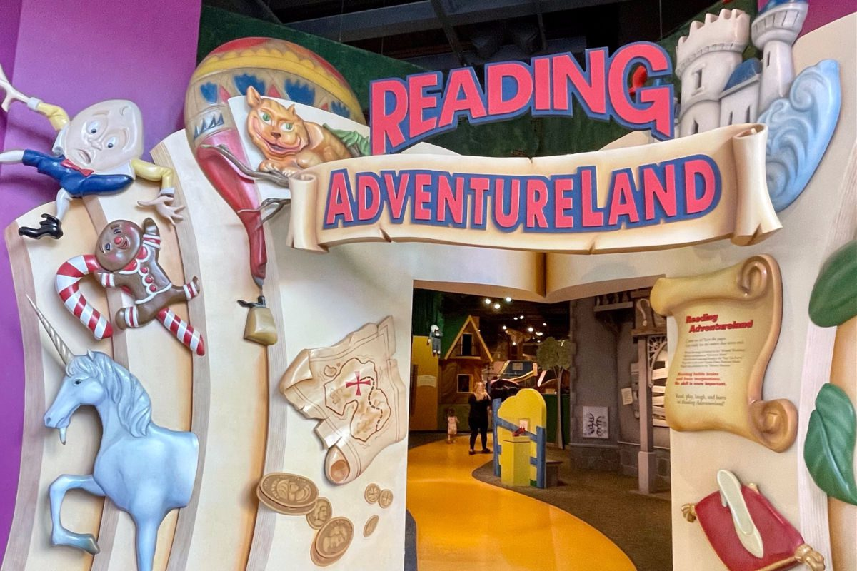 Reading Adventureland entrance from the Strong National Museum of Play