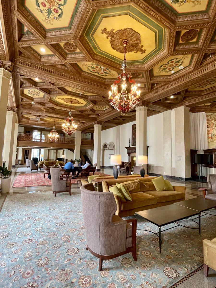 Lobby of the Downtown Marriott Syracuse