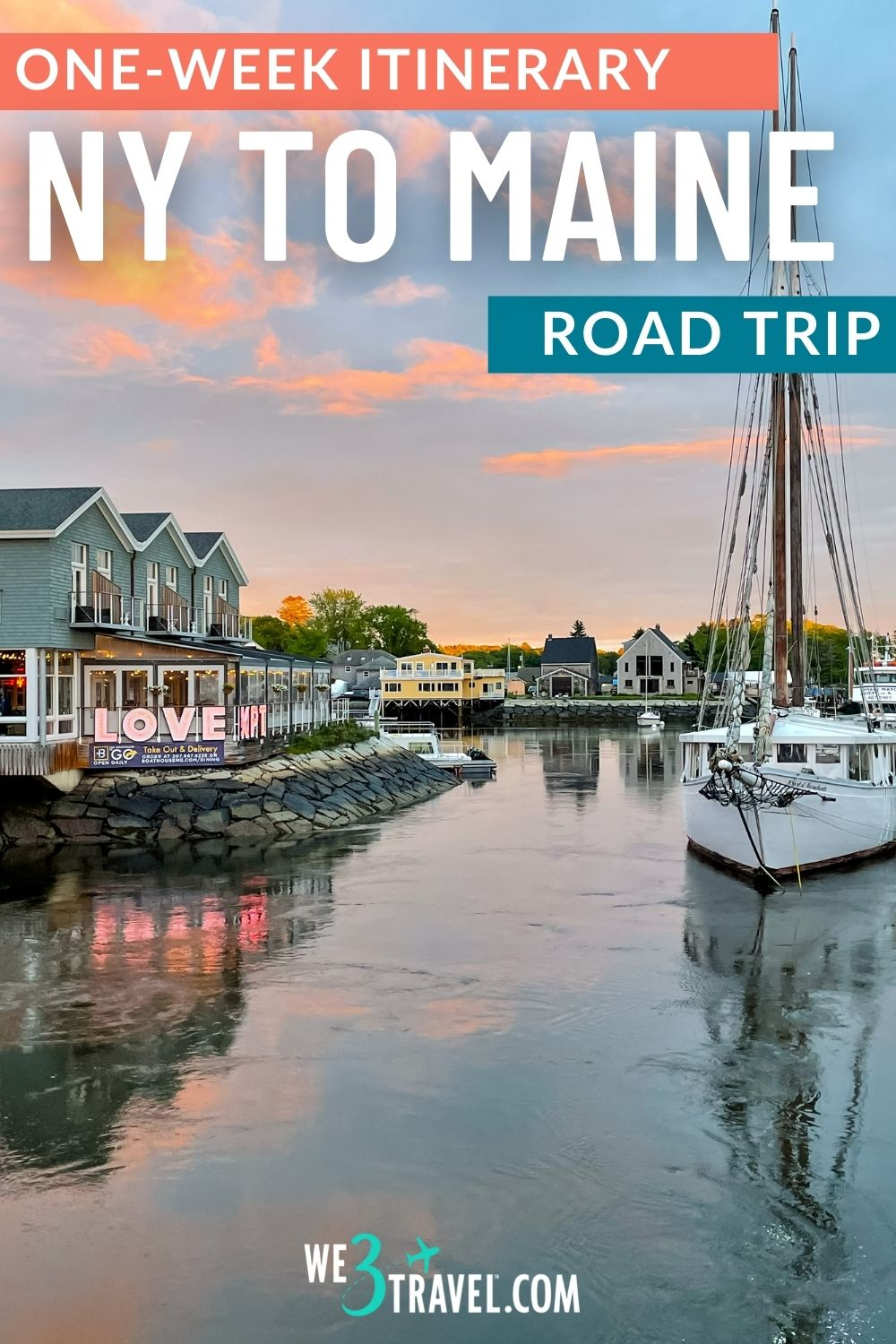 One week itinerary for a New York to Maine road trip