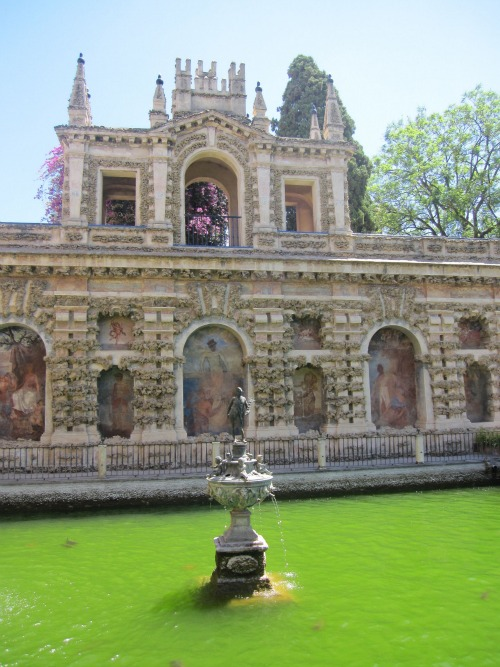 Alcazar gardens   What to do in Seville with kids via We3Travel