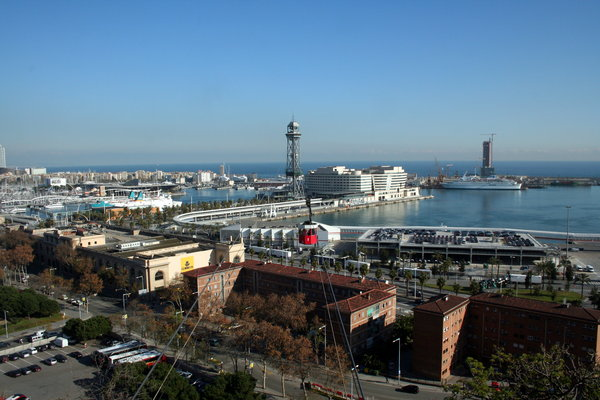 Barceloneta cable car via 4 days in Barcelona with kids from We3Travel