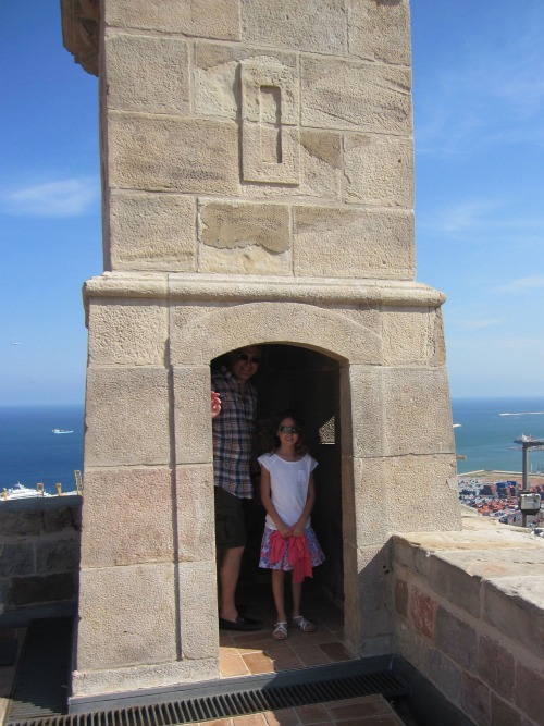 Castle Montjuic tower | 4 days in Barcelona with kids via We3Travel
