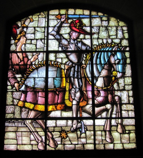 Stained glass window in the Alcazar in Segovia | Sightseeing in Segovia with Kids via We3travel