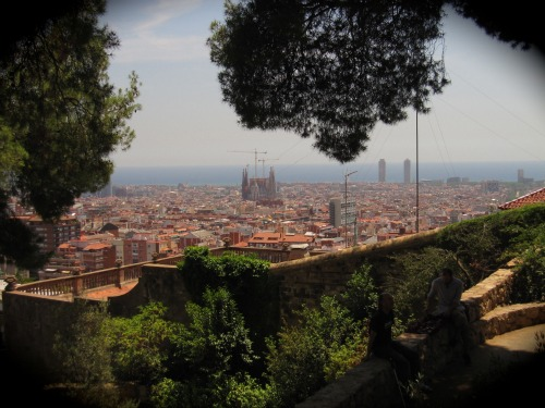 Parc Guell view of Sagrada Familia | 4 days in Barcelona