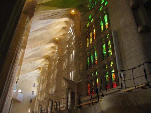 Windows in Sagrada Familia | 4 days in Barcelona via We3Travel