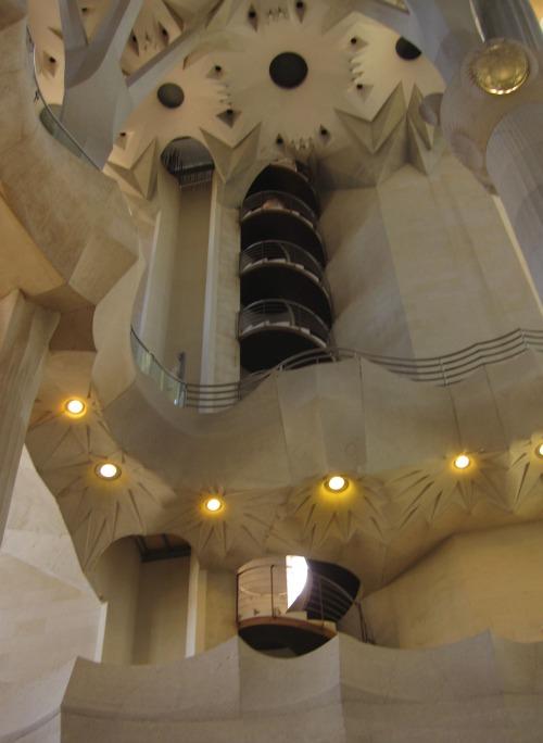 Staircases inside Sagrada Familia | 4 days in Barcelona