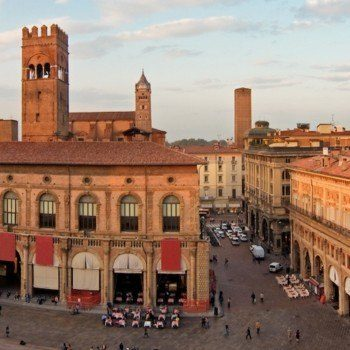 Bologna's main square from above