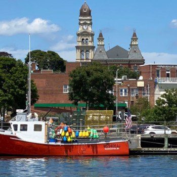 Gloucester downtown from the harbor