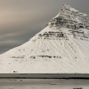 Kirkjufell in the snow