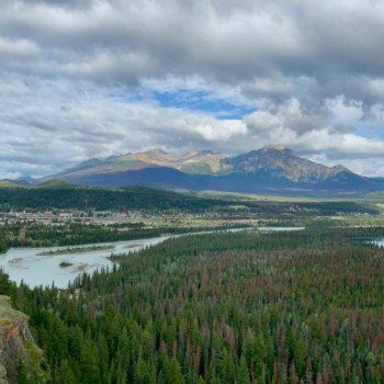 View of Jasper from Old Fort Point