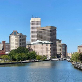 Providence skyline and river