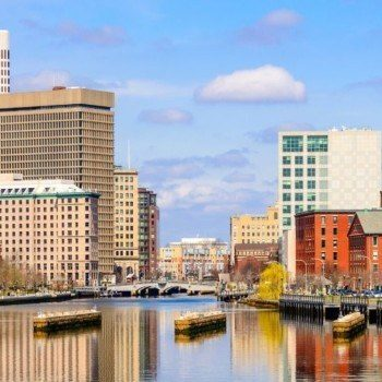 Providence skyline from the river