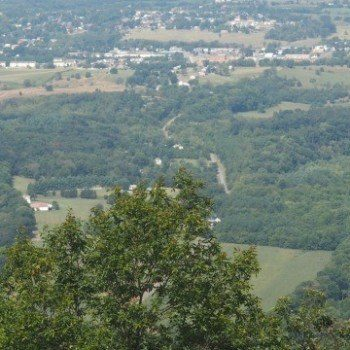 The bends of the Shenandoah River from Woodstock Tower in Virginia