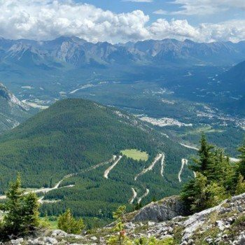 View from the top of Mt Norquay Via Ferrata Banff