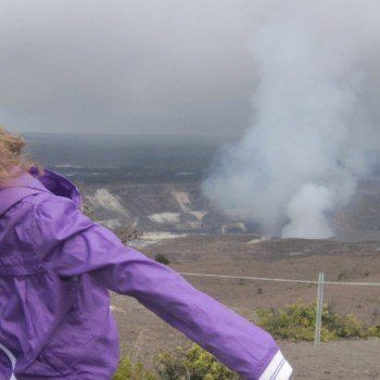 Crater in Volcanoes National Park on the Big Island of Hawaii