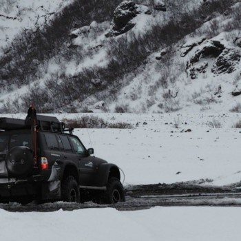Iceland super jeep tour in Thorsmark Valley
