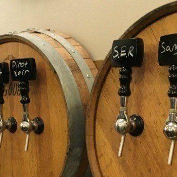 Wine tasting in Grapevine Texas: Messina Hof wine taps