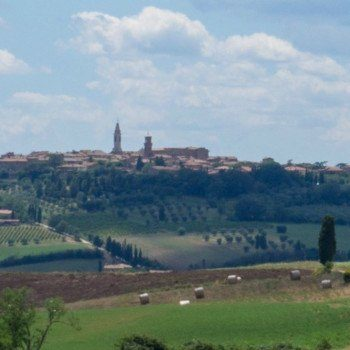 Pienza on a hill